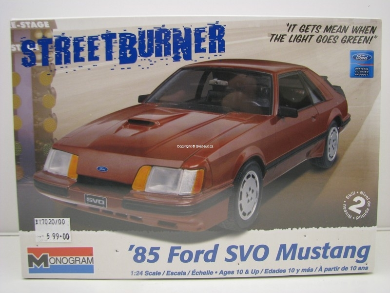 Ford SVO Mustang 1985 1:24 Kit Monogram
